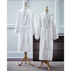 SFERRA Berkley Bath Robe Terry/Waffle Reverse in White
