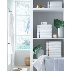 SFERRA Aura Bath Sheet in White/Almond
