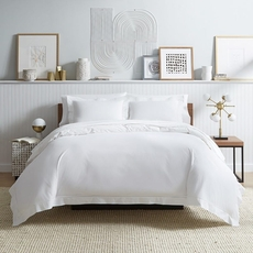 SFERRA Analisa White Duvet Cover