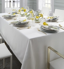 SFERRA Blaine 108 Inch Oblong Table Cloth in White