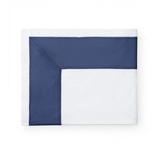 SFERRA Casida 114 Inch King Flat Sheet in White/Delft