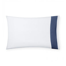SFERRA Casida 33 Inch Standard Pillowcase in White/Delft