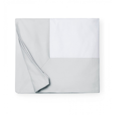 SFERRA Casida 86 Inch Twin Duvet Cover in White/Lunar