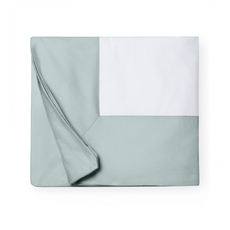 SFERRA Casida 92 Inch King Duvet Cover in White/Seagreen