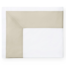 SFERRA Casida 114 Inch Full/Queen Flat Sheet in White/Oat