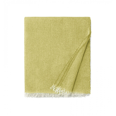 SFERRA Ciarra 70 Inch Fringed Throw in Lemon
