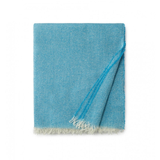 SFERRA Ciarra 70 Inch Fringed Throw in Teal