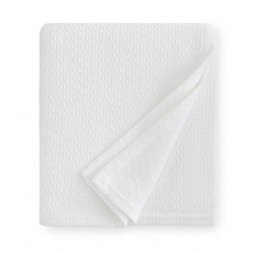 SFERRA Corino 100 Inch Twin Blanket in White
