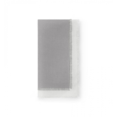 SFERRA Farrell Set of Four 20 Inch Dinner Napkin in Grey/Oyster