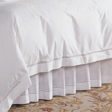 SFERRA Francesca White Bed Skirt