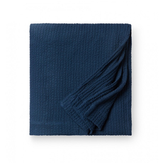 SFERRA Ginto 94 Inch Full/Queen Blanket Cover in Navy