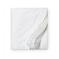 SFERRA Lansone 100 Inch Full/Queen Blanket Cover in White