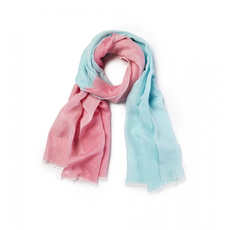 SFERRA Sitta 78 Inch Scarf with Fringe in Poolside