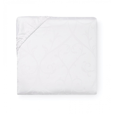SFERRA Somina 80 Inch King Bottom Fitted Sheet in White