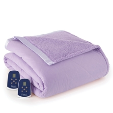 Shavel Micro Flannel® Twin Electric Sherpa Blanket - Amethyst