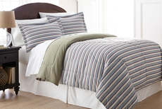 Shavel Micro Flannel® Comforter with Shams in Awning Stripe