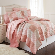 Shavel Micro Flannel® Enchantment Patchwork Quilt Set