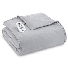 Shavel Micro Flannel® Greystone Electric Heated Blanket