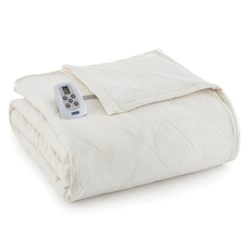 Shavel Micro Flannel® Ivory Electric Heated Blanket