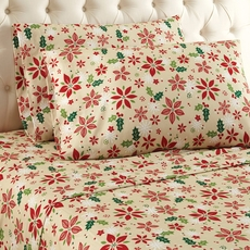 Shavel Micro Flannel® Queen Sheet Set - Poinsettia
