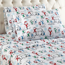 Shavel Micro Flannel® Full Sheet Set - Polar Bears