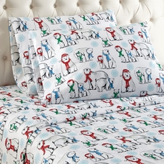 Shavel Micro Flannel® King Sheet Set - Polar Bears