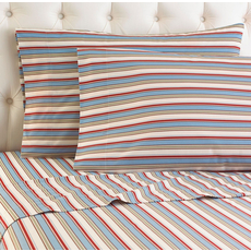 Shavel Awning Stripe Printed Micro Flannel® Sheet Set