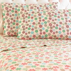 Shavel Snowflake Printed Micro Flannel® Sheet Set