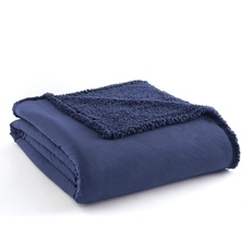 Shavel Micro Flannel® Reverse to Sherpa Smokey Mountain Blue Full/Queen Blanket