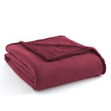 Shavel Micro Flannel® Reverse to Sherpa Wine Full/Queen Blanket