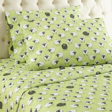 Shavel Micro Flannel® Cal King Sheet Set - Sheep Green