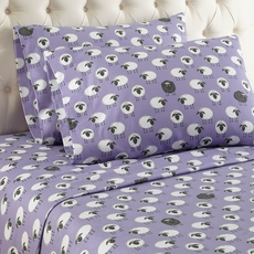 Shavel Micro Flannel® Cal King Sheet Set - Sheep Lavender