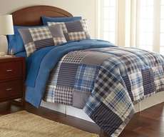 Shavel Micro Flannel® Smokey Mt. Plaid Comforter Set