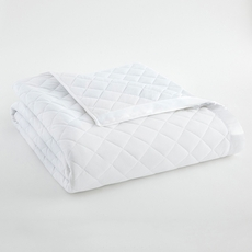 Shavel Micro Flannel® White Quilted Blanket