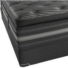 Queen Simmons Beautyrest Black Natasha Plush Pillow Top Mattress