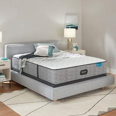 King Simmons Beautyrest Harmony Lux HLC-1000 Extra Firm 12.5 Inch Mattress Set with Regular Height Foundation