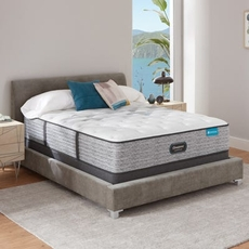 King Simmons Beautyrest Harmony Lux HLC-1000 Medium 13.75 Inch Mattress Set with Low Profile Foundation