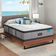 Full Simmons Beautyrest Harmony Lux HLC-1000 Medium Pillow Top 15.75 Inch Mattress Set with Low Profile Foundation