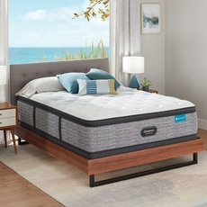 Cal King Simmons Beautyrest Harmony Lux HLC-1000 Plush Pillow Top 15.75 Inch Mattress Set with Low Profile Foundation