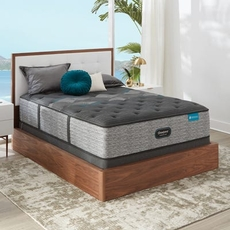 King Simmons Beautyrest Harmony Lux HLD-2000 Medium 14.75 Inch Mattress Set with Low Profile Foundation