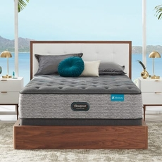 King Simmons Beautyrest Harmony Lux HLD-2000 Medium 14.75 Inch Mattress Set with Regular Height Foundation