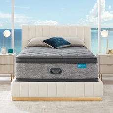 Cal King Simmons Beautyrest Harmony Lux HLD-2000 Medium Pillow Top 17.25 Inch Mattress Set with Regular Height Foundation