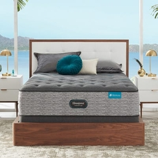 Cal King Simmons Beautyrest Harmony Lux HLD-2000 Plush 15 Inch Mattress Set with Regular Height Foundation