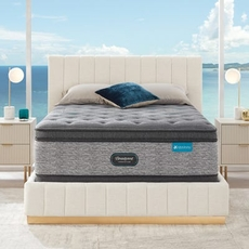 Queen Simmons Beautyrest Harmony Lux HLD-2000 Plush Pillow Top 17.5 Inch Mattress Set with Regular Height Foundation