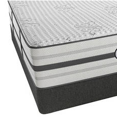 Queen Simmons Beautyrest Platinum Hybrid Tyson Luxury Firm Mattress with SmartMotion 2.0 Adjustable Base