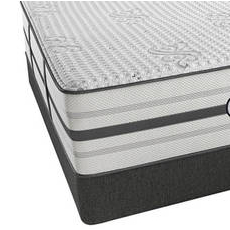 King Simmons Beautyrest Platinum Hybrid Vanity Plush Mattress with SmartMotion 3.0 Adjustable Base