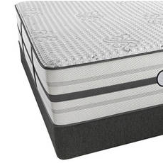 Queen Simmons Beautyrest Platinum Hybrid Warrior Ultra Plush Mattress with SmartMotion 1.0 Adjustable Base