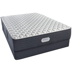 Cal King Simmons Beautyrest Platinum Spring Grove Extra Firm 13.5 Inch Mattress Set with Regular Height Box Spring