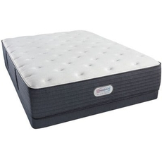 Cal King Simmons Beautyrest Platinum Spring Grove Luxury Firm 13.8 Inch Mattress Set with Low Profile Box Spring