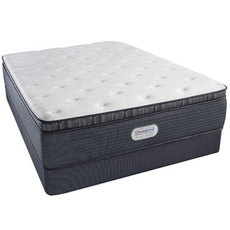 Queen Simmons Beautyrest Platinum Spring Grove Luxury Firm Pillow Top 15 Inch Mattress Set with Regular Height Box Spring